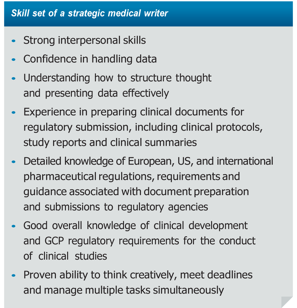 the new documentation paradigm the evolution of medical writing table skill set of strategic medical writer