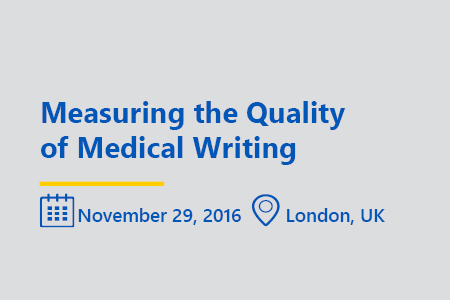 Measuring the Quality of medical writing think tank london november 2016