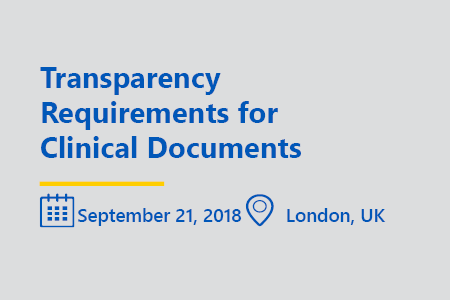 Transparency requirements for clinical documents london 2018